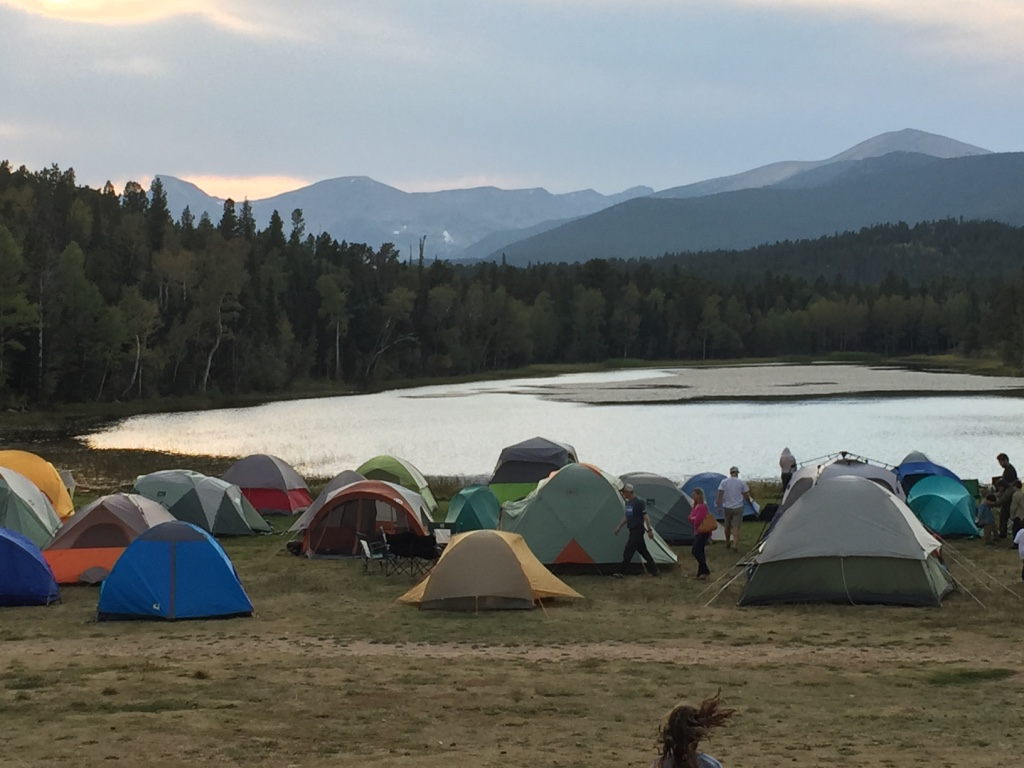Lake Front with Tents
